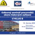 Olomouc 12. června 2018, CYKLUS B, pozvánka a program: tlak B OL tisk České Budějovice 18. září 2018,CYKLUS B, pozvánka a program: tlak B ČB tisk Hradec králové 9. října […]