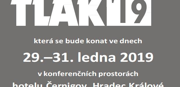 Tradiční vzdělávací akce TLAK ´19 se bude konat ve dnech 29.–31. ledna 2019 v konferenčních prostorách hotelu Černigov, Hradec Králové Předběžná pozvánka ZDE: POZVÁNKA Registrace ZDE: www.kapkaplus.cz/?a=akce&id_akce=48&formular=1.