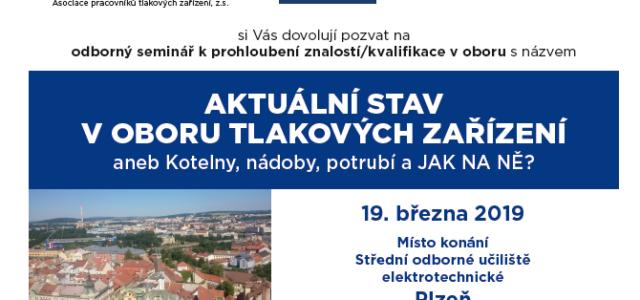Termín: 19. března 2019 Místo konání: SOU elektrotechnické Plzeň Program a přihláška: ZDE